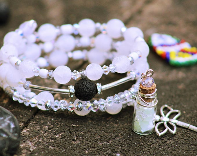 Glow in the dark vial charm bracelet