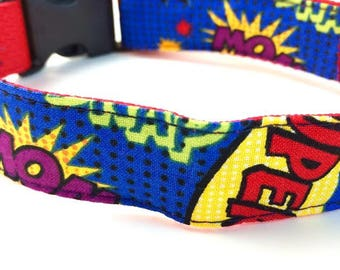 Super Hero Dog Collar | Super Hero Leash | Step In Harness | Super Hero Harness | Personalized Dog Collar | Engraved Buckle | Dog Collar