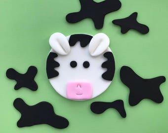 Cow Cake Topper Kit-Fondant