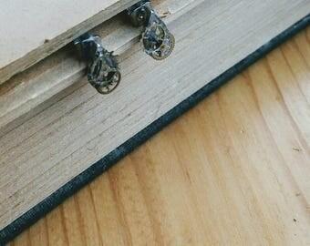 Steampunk Clock Parts Stud Earrings - Steampunk Jewellery - Steampunk Earrings - Ornate Earrings - Unique Stud Earrings - Clock Cog Earrings