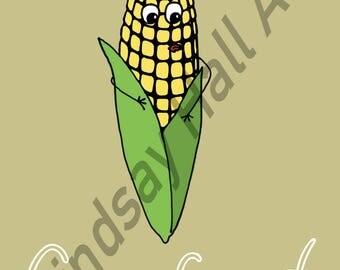 Corn Food Pun Digital Print