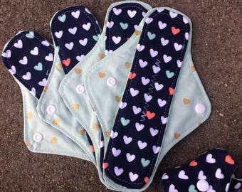 3 Reusable Panty liners,reusable pads, RUMPS, reusable pad set, 3 Pantiliners, set of three
