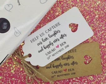 Disposable Camera Favour Gift Tags, Wedding Favour, Wedding Camera, Photo Tag