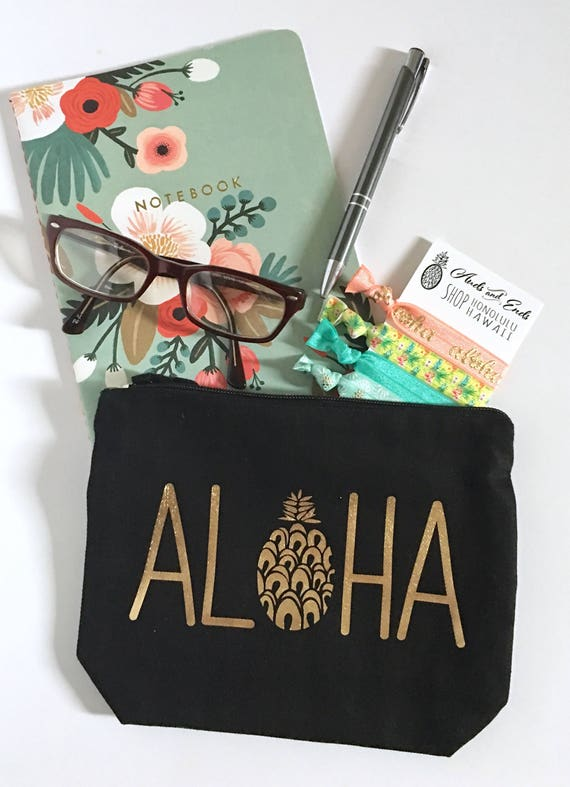 Aloha mini clutch Bag |Pineapple bag | Aloha bag | Hawaii Bag| canvas bag | Beach bag | clutch bag |