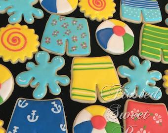 2 dozen Swim Summer Pool Party Cookies