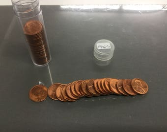 UNC. Roll of 1946-S Lincoln wheat cents