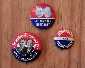 Lot of Johnson and Humphrey 1964 campaign buttons