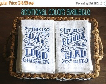 This is the Day the Lord Has Made, Psalm 118, Dish Towels, Dish Towels Set, Kitchen Towels, Bible Verse, Religious Gifts, Kitchen Decor
