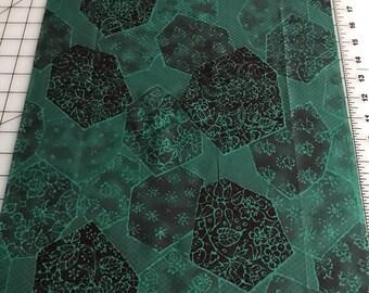 Vintage Kimono Silk Fabric, Kimono Silk Cloth, Japanese Fabric, KIribame, Green