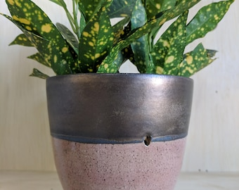 Pink and Gold Planter