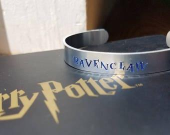 """Hand Stamped """"Ravenclaw"""" Harry Potter Inspired Bracelet"""