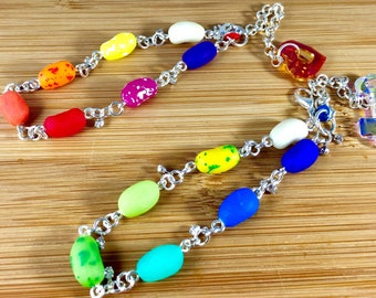 "Medium size jelly beans on 7"" bracelets"