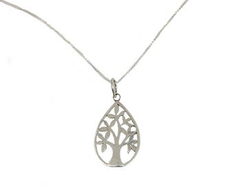 Tree of life pendant with necklace