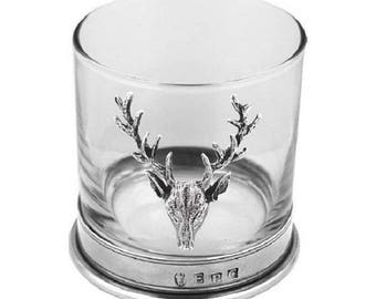 Stag & Pewter Whiskey Glass