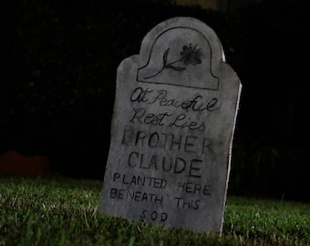 Haunted Mansion Inspired Tombstone - Brother Claude