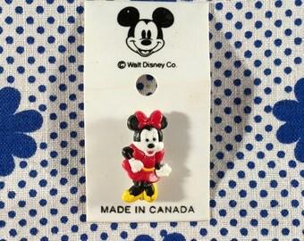 "Plastic Pin ""Minnie Mouse/Disney"" Retro Vintage 90's New"