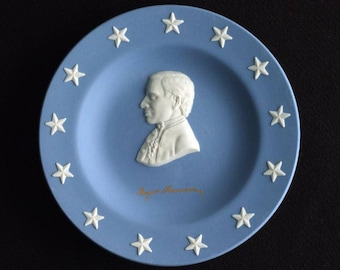 Connecticut Declaration of Independence Signatory Roger Sherman.  Souvenir Wedgwood Plate.  Circa 1976 Bicentennial