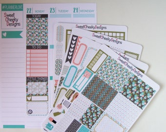 Pastel Blooms Weekly Kit!  Available for Erin Condren Life Planner or MAMBI/Happy Planner