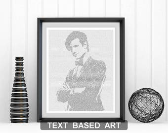 The Eleventh Doctor Who Wall Art, Whovian Print Dr Who Gift for Men, Text Art (US)