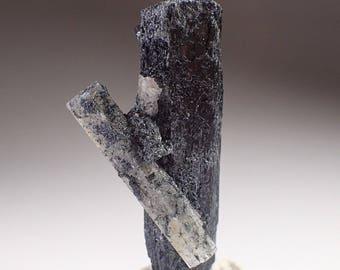 Black Tourmaline and Goshenite Crystal Specimen, Erongo Namibia