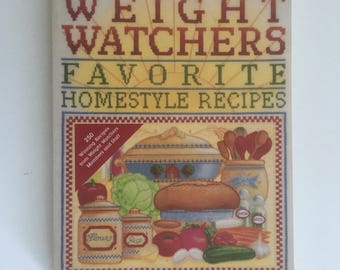 Weight Watchers Cookbook, Favorite Homestyle Recipes, Vintage Healthy Recipes, First Printing, Low Fat Cook Book, Paperback