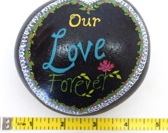 Our Love Forever--Hand-Painted Beach Rock