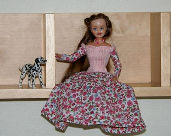 Pink cotton outfit for Barbie - handmade -dress
