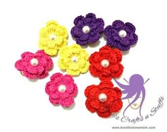 Crochet Flower Hair Clips Girls Clip Hair Accessories