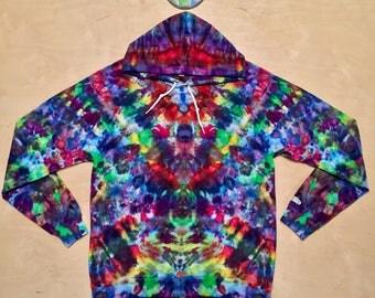 Large Kaleidoscopic Apparel tie dye hoodie