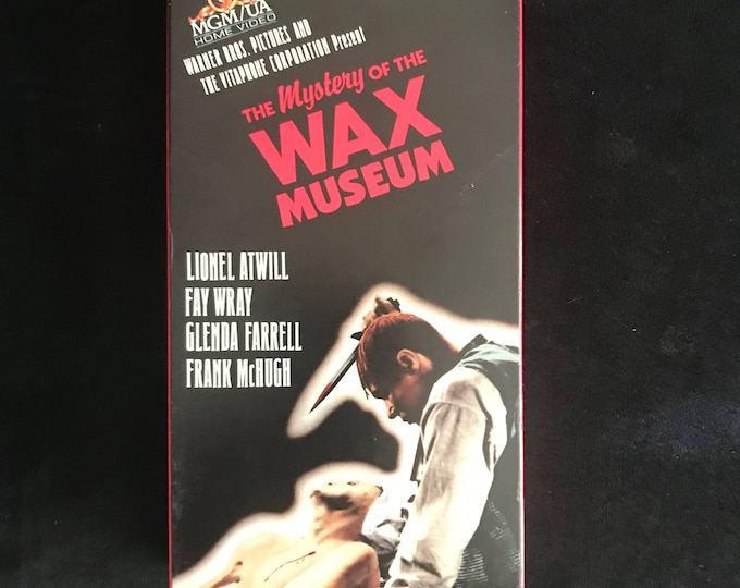 The Mystery of the Wax Museum 1933 Vintage Movie VHS