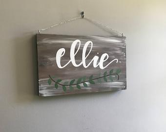 Custom Hanging Name Sign