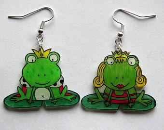 """frogs out of a fairy tale"" earrings"