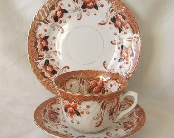 Deco Teacup Trio Trent Pattern c.1930 Teacup, Saucer, Tea Plate