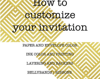 How to customize your invitation