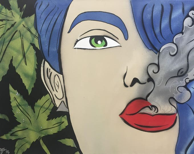 Featured listing image: Sativa Queen Mary Jane 2FTx3FT Spray Painting