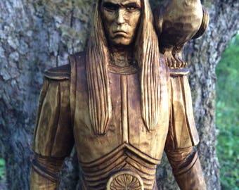 Nuada, Wooden statue, Pagan, Scandinavian God, Viking, Asatru, Vikings statue, Celtic God, Heathen
