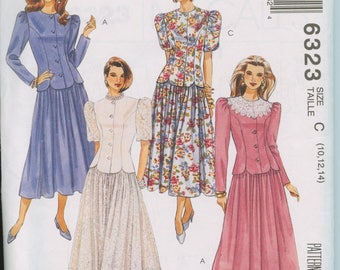 McCall's Misses Two-Piece Dress Pattern 6323