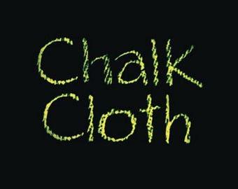 Moda CHALK CLOTH Quilt Fabric 1/2 Yard - Black OC48 Oil Cloth