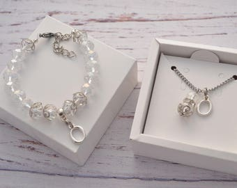Wedding favors Personalized gift Bridal shower favors Personalized bracelet Initial jewelry Personalized jewelry Initial necklace silver