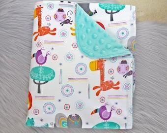 Baby Blanket, Baby Boy Gift, Baby Boy, Baby Shower Gift, Nursery Decor - Animals