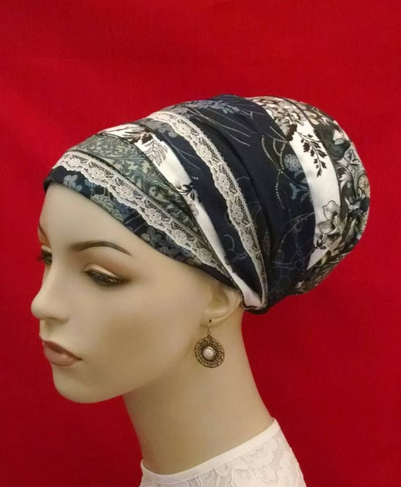 Love blues n greens sinar tichel, tichels, chemo scarves, hair snoods, head scarves