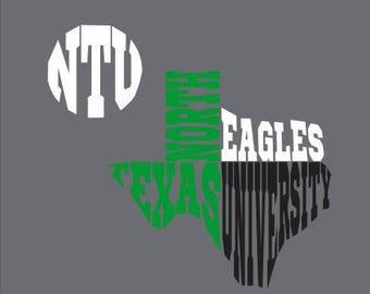 North Texas University SVG DXF