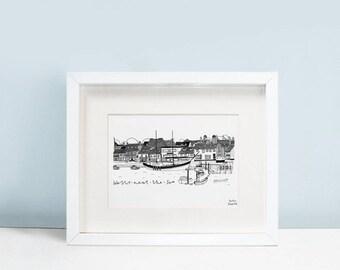 Wells-next-the-Sea Harbour Seaside Print