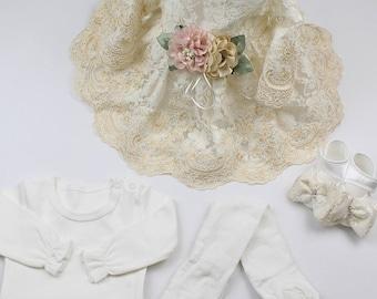 Christening Dress/Gown,Baptism Dress,Baptism Gown,Newborn Dress,Baby Girl Dress,Dedication Dress,Easter Dress