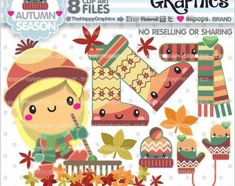 80%OFF - Autumn Clipart, Autumn Graphic, COMMERCIAL USE, Autumn Party, Planner Accessories, Autumn Season, Fall Clipart, Leave Clipart, Leaf