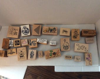 Vintage Rubber Stamp Collection  (humor3)