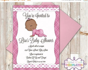 SALE Personalized Printable Invitations | Pink Plaid | Baby Shower | Birth Announcement |  #326