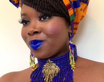 African Print Head Wrap, Head Wrap,  African Wedding Head Wrap, Ankara Fabric Turban, Ladies Gift