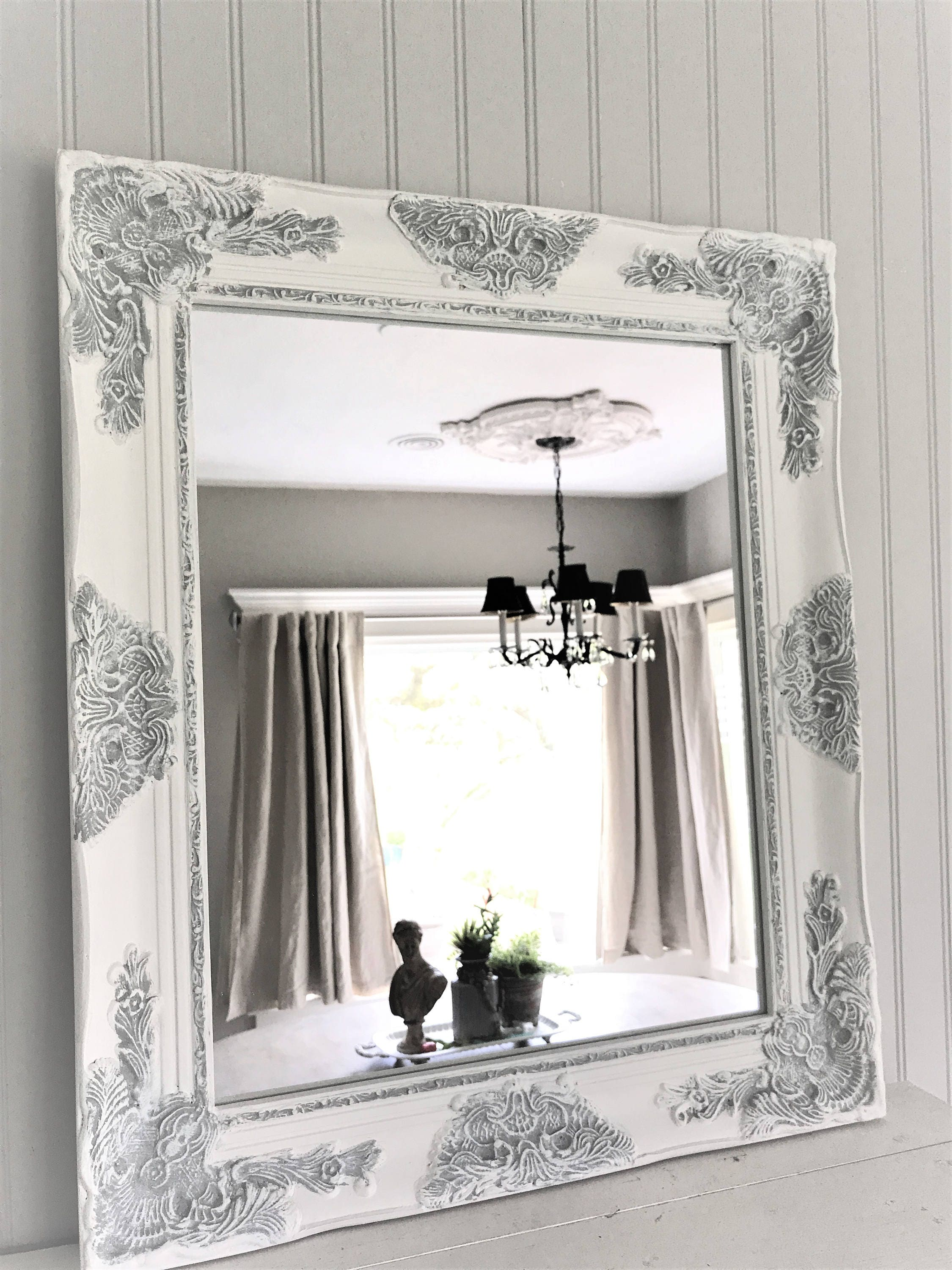 shabby chic mirror large mirror bathroom mirror vanity 20338
