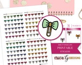 PRINTABLE ICONS: Bow Paperclips/Printable/Digital/Stickers